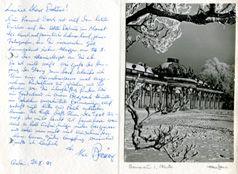 Korrespondenz von Max Baur. Foto: Förderverein des Potsdam Museums