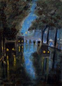 Unter den Linden. Pastell von Otto Heinrich, Repro und © Potsdam Museum -  Forum für Kunst und Geschichte