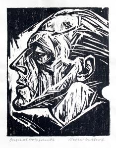 Walter Bullert, Selbstporträt, 1926, Holzschnitt, Privatbesitz © VG Bild-Kunst, Bonn 2015, Foto: Judith Granzow